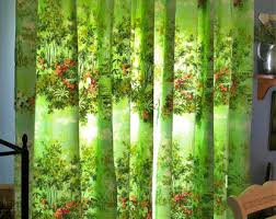 Peach Floral Curtains Vintage Curtains U0026 Window Treatments Etsy