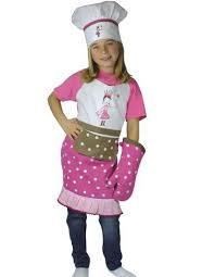 tablier de cuisine montreal tablier enfant princesse avec toque et gant cadeaux renaud