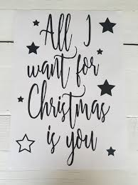 raamsticker all i want for is you kerst biebies