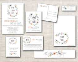 wedding invitation set wedding invitation stationery sets rectangle potrait white floral