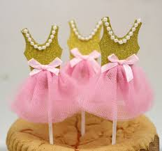 pink and gold baby shower decorations cupcake toppers ballerina birthday tutu baby shower pink gold