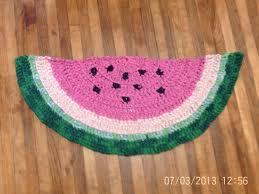 Crochet Bathroom Rug by Elecia U0027s Creative I Watermelon Rag Rug