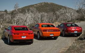 mustang vs dodge challenger motor trend comparo camaro ss vs challenger r t vs mustang gt