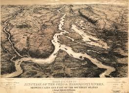 Southern Illinois Map by Bachmann U0027s Birdseyes Of Cairo Illinois 1861