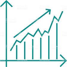 growing chart vector growing chart graph icon business arrow progress diagram
