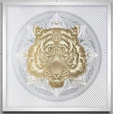 chris saunders white tiger mandala beautiful print available