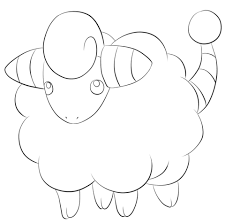 togepi coloring pages click to see printable version of mareep coloring page lineart
