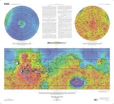 Map Projection Definition Mars Global Surveyor Mola Topographic Map Usgs Astrogeology