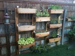 Creative DIY Vertical Fence Mounted Garden Planter Boxes Using