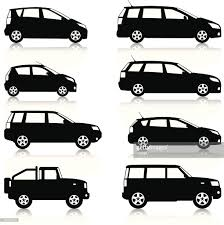 small cars black city family cars vector art getty images