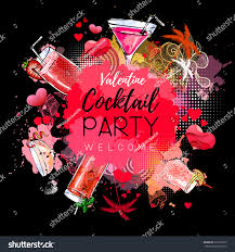 cocktail party poster design cocktail menu stock vector 519219955