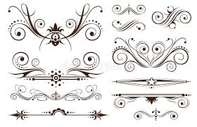 ornament and decoration for classic designs royalty free stock