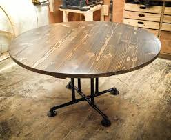 wood and metal round dining table the most stylish rustic industrial dining table modern kingfuvi com