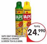 Obat Nyamuk Vape hit obat nyamuk green tea 600ml daftar harga terlengkap indonesia