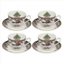 spode tree grove teacup saucer 7 oz dishes