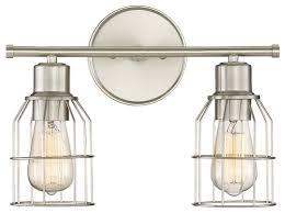 Felix 4 Light Cage Vanity - trade winds 2 light industrial wire bath bar brushed nickel
