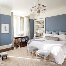 adorable design of the bedroom layout ideas with blue wall added