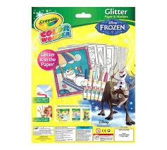 color disney frozen glitter crayola