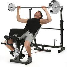 Weight Bench With Barbell Set Weight Bench Set Ebay