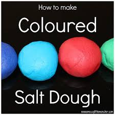 how to make coloured salt dough salt dough monsters and craft