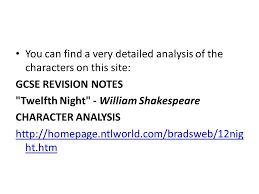 twelfth night characters ppt video online download