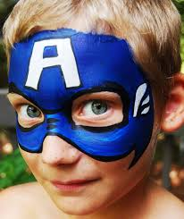 how to face paint captain america face face paintings and