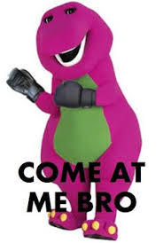 Barney Meme - drake and trey songz got nothing on barney mr steal your girl