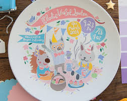 baby birth plates birth plates etsy
