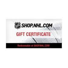online gift certificates nhl shop online gift certificate shop nhl