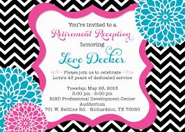 retirement party invitation wording cloveranddot com
