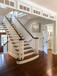 Interior Wood Railing Beach House Stair Railing Tidal Treasures