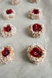 raspberry almond thumbprint cookies gluten free u0026 vegan u2014 oh she