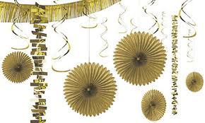 gold decorations gold balloons banners confetti city