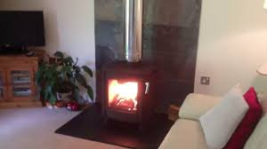 freestanding wood log stove no chimney youtube