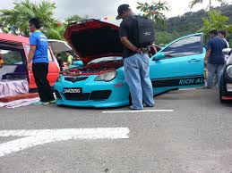 subaru liberty walk just saw this proton persona gen 2 with liberty walk blue mad
