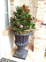 Outdoor Christmas Decorations Pots by 126 Best Outdoor Greenery Pots Images On Pinterest Christmas
