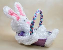 chenille easter craft project loopy chenille bunny basket factory direct craft