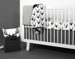 Black And White Crib Bedding Sets Olli Lime Modern Crib Bedding Modern Gray Triangle Nursery