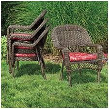Big Lots Patio Chairs Wilson Fisher Resin Wicker Cushioned Rocker At Big