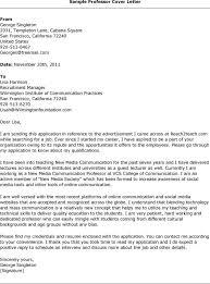 sample cover letter professor cover letter teacher template