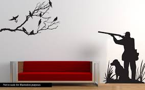 dove hunting wall decal large hunter and dog dove hunting zoom