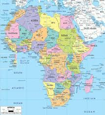Blank Political Map Of Africa by Political Map Of Africa U2013 Ezilon Maps Intended For Map Of Africa