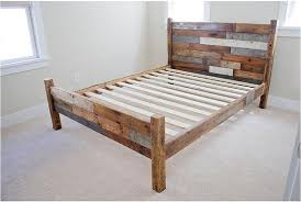 Reclaimed Wood Bed Frame Reclaimed Wood Bed Frame W Foot Board