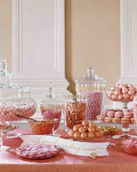 Wedding Candy Table Wedding Colors Pink And Gold Martha Stewart Weddings