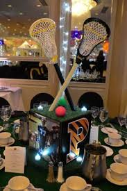 Football Banquet Centerpiece Ideas by Lacrosse Theme Bar Mitzvah Centerpiece The Event Of A Lifetime