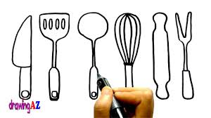 kitchen tools coloring page for kids draw and coloring kitchen
