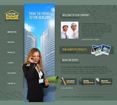 website template 11282 building company info custom website