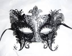 silver masks venetian style black silver metal overlay mask other colours avail
