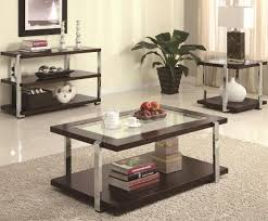 Glass Center Table by Chrome Legs U0026 Center Glass Top Modern Coffee Table W Options