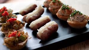 canapes but mini bangers and mash canapés recipe food ideaa
